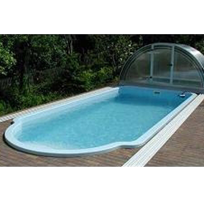 GFK Schwimmbecken Rechteckiger Pool Aus Polyester 7,00 X 3,00 X 1,