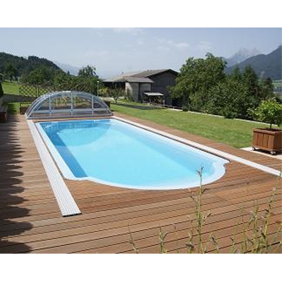 gfk schwimmbecken rechteckiger pool aus polyester 8 60 x 3 70 x 1 50 m tiefe als komplettset. Black Bedroom Furniture Sets. Home Design Ideas