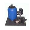 Quarzsandfilteranlage mit 6 Wege Side Mount Ventil Filterleistung  8m³/h