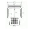 Einbauskimmer mit langem Skimmerhals 300 mm