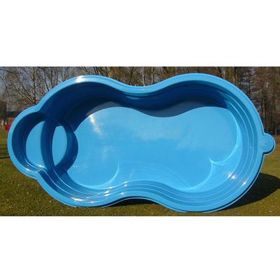 Achtform schwimmbecken aus polyester 2 60 x 5 00 x 1 02m for Schwimmbecken polyester