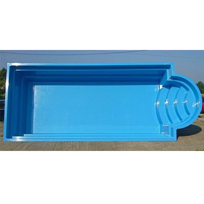 Gfk schwimmbecken rechteckig mit r mischer treppe aus for Schwimmbecken polyester